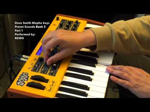 Dave Smith Mopho Analogue Synth Preset Sounds Bank 3 - Part 1 (HD 1080p)