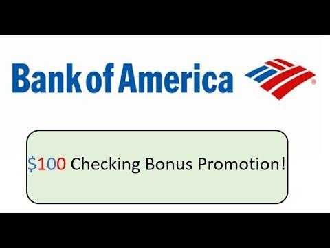 Bank Of America Online Checking Promotion Bonus