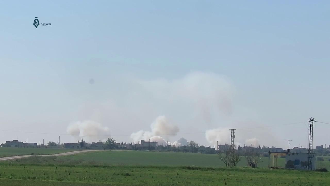 Many strikes on Latamnah city in Northern Hama