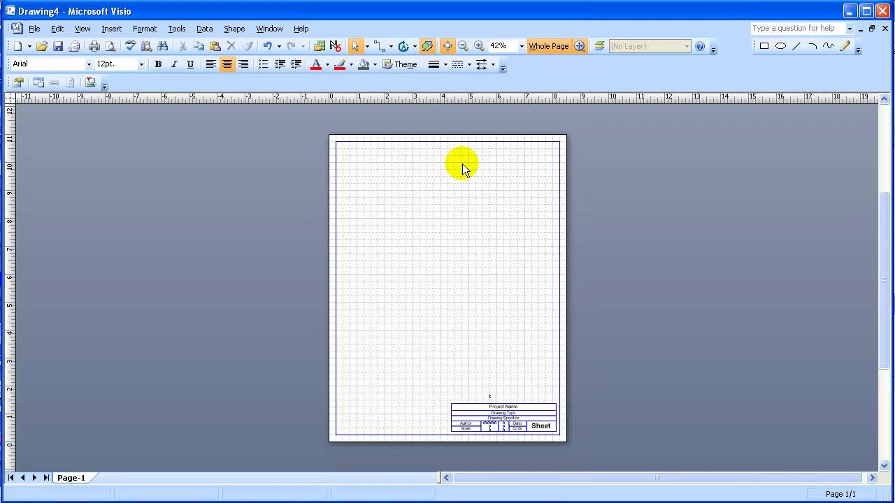 Visio custom title block tutorial youtube ccuart Image collections