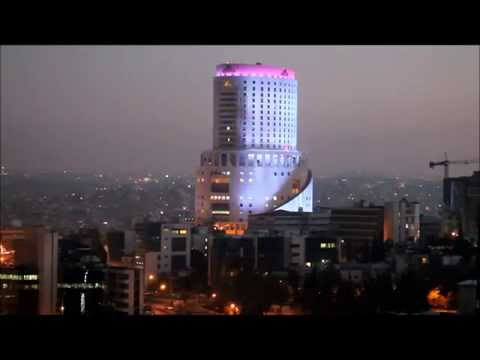 Le Royal Hotel Amman Light Show At Sunset