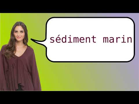 How to say 'marine sediment' in French?