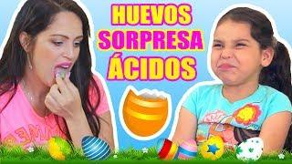 ABRIENDO HUEVOS CON SORPRESAS! MIA Prueba DULCES MUY ÁCIDOS por PRIMERA VEZ! Play con SandraCiresArt