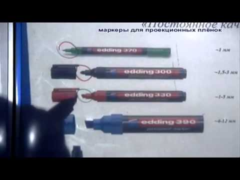 Перманентные маркеры для проекционных пленок Edding