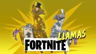 FORTNITE - Opening Gold and Silver Llamas for the best loot (Unlocking Legendary and Epics)