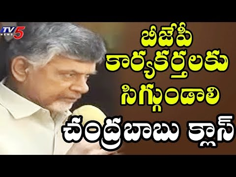 Andhra Pradesh BJP Activists Stopped CM Chandrababu Naidu Convey | CBN fires on BJP Activists