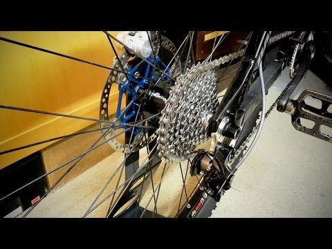 Loudest and longest spinning bike rear wheel hub ever.