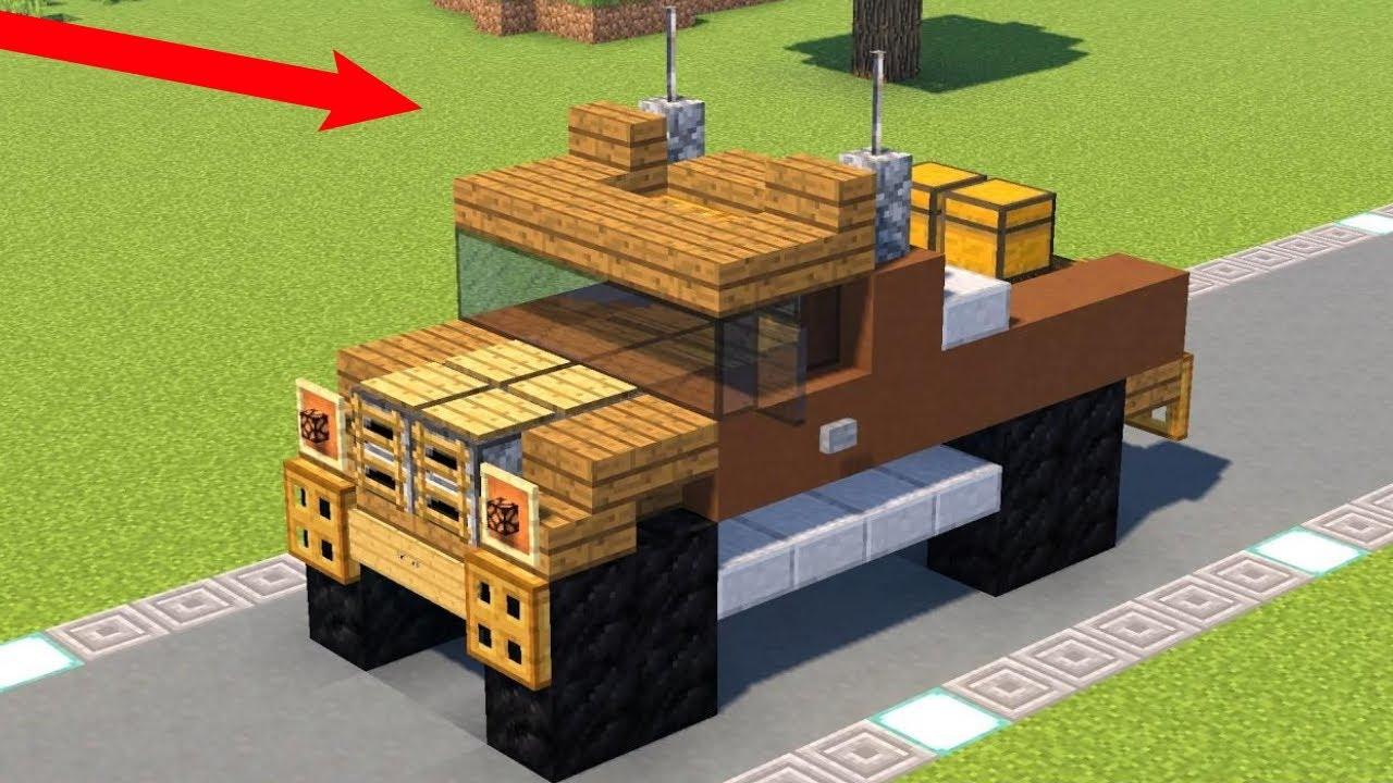 Как построить крутую машину в майнкрафт