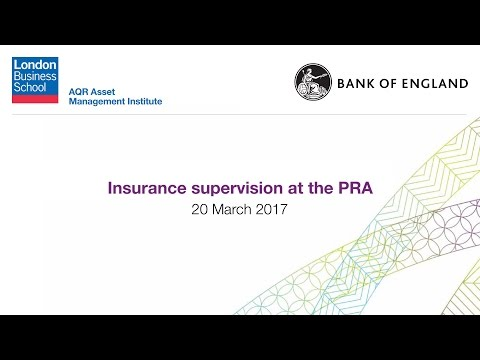 Insurance supervision at the PRA