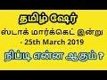 ஸ்டாக் மார்க்கெட் இன்று - 25th March 2019   நிப்டி என்ன ஆகும் ?   Tamil Share