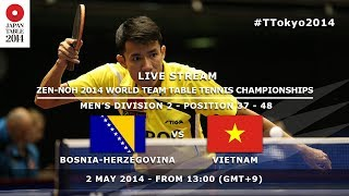 #TTokyo2014: Bosnia & Herzegovina - Vietnam