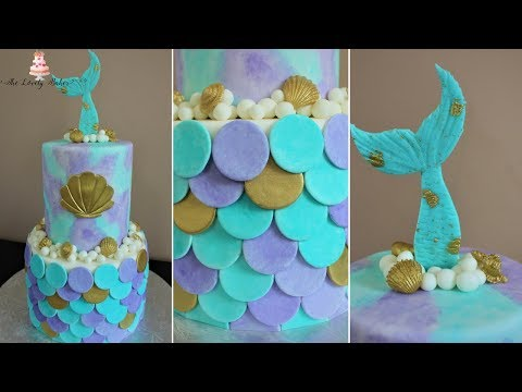 mermaid-cake-tutorial!