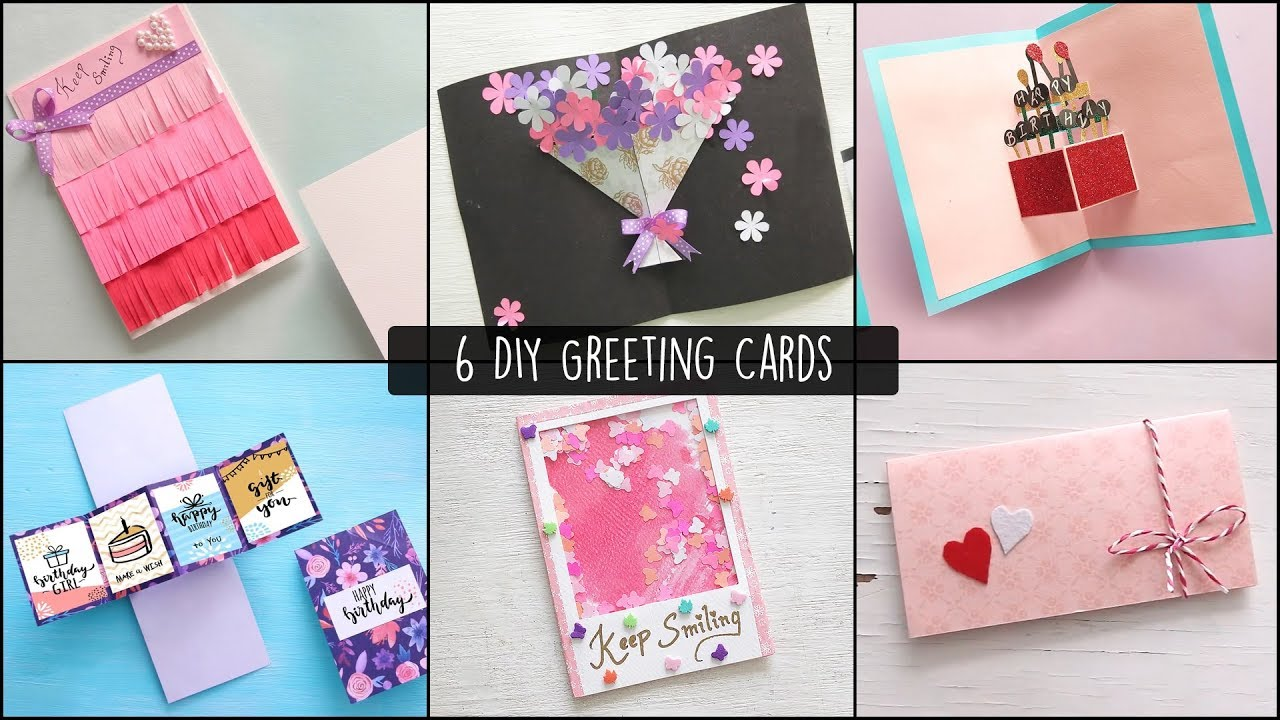 6 Easy Greetings Cards Ideas Handmade Greeting Cards