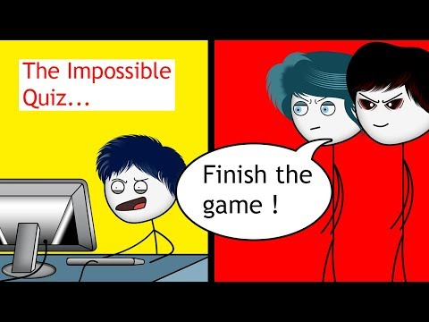 When a Gamers Mom makes him play The Impossible Quiz