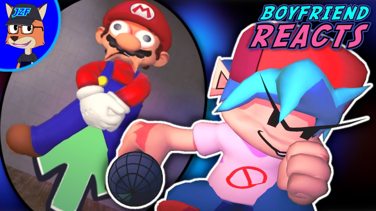 Download Boyfriend Reacts to SMG4: If Mario Was In.... Friday Night Funkin
