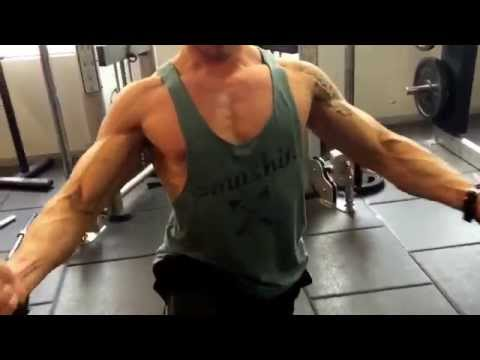 Lawrence Templar Training chest at home gym Melbourne Central fitness first.