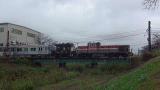 ♯149【名古屋市営地下鉄】鶴舞線N3000形N3112H甲種輸送 DE10-1557汽笛あり