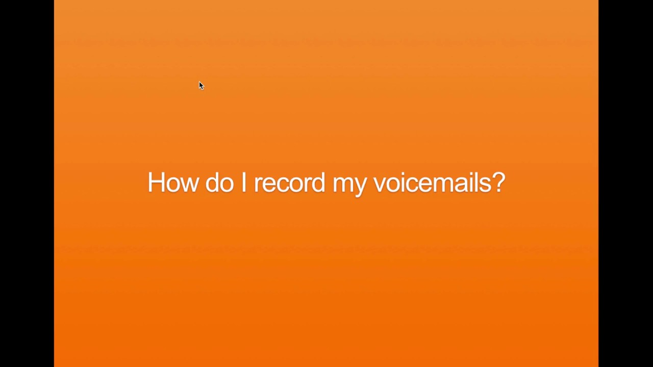 Phoneburner How To Record Voicemail Youtube