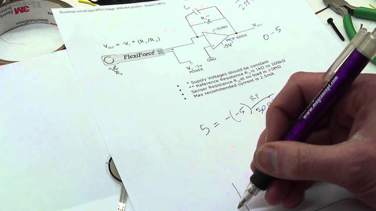 Tutorial Op Amp Circuit For Force Sensor Signal Conditioning Youtube Temperature Pressure Load 038 Other Sensors
