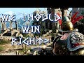 watch he video of For Honor:There is NO WAY we could lose..right??