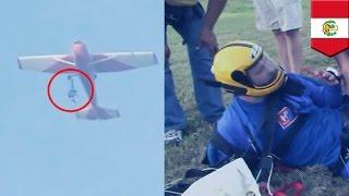Парашютист застрял в самолёте на высоте 10 000 футов