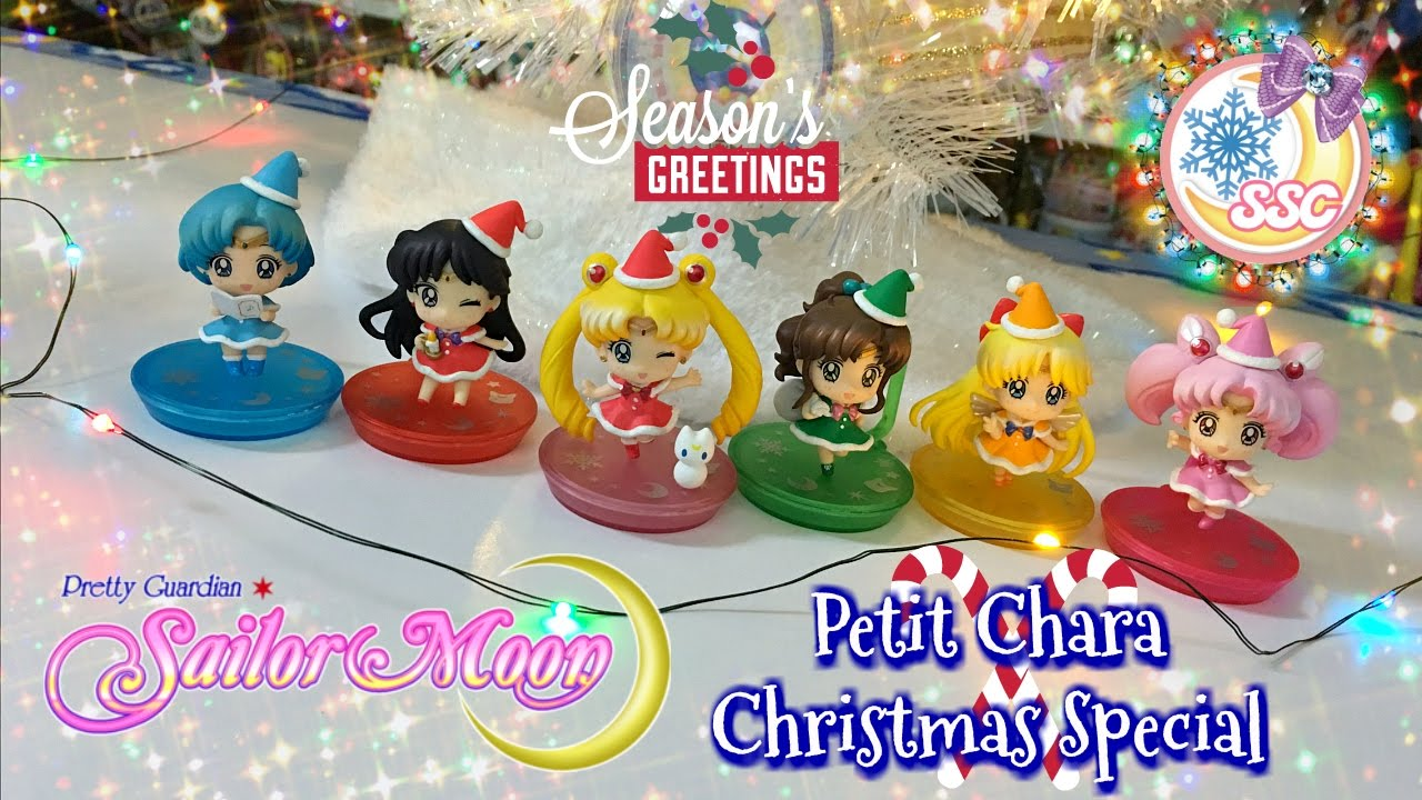 sailor moon petit chara christmas special figures review youtube