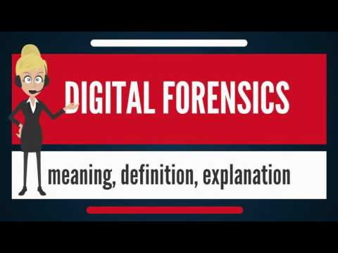 What is DIGITAL FORENSICS? What does DIGITAL FORENSICS mean? DIGITAL FORENSICS meaning & explanation
