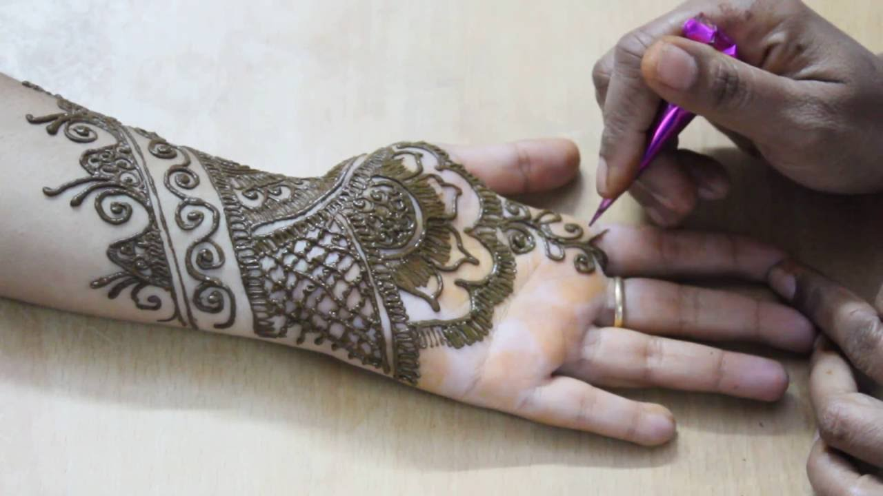 2017s stunning bridal mehndi designs for hands easy floral youtube premium solutioingenieria Image collections
