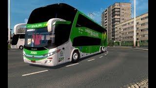 Ônibus Marcopolo G7 DD 1800 atualizado Versão 1.35 Mod Bus Euro Truck 2