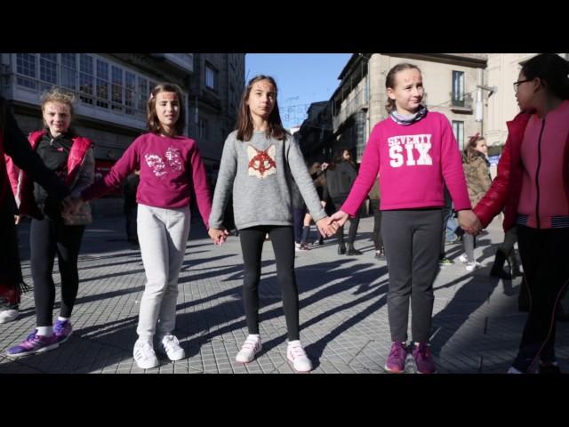 Cadena contra la violencia machista en Pontevedra