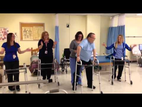 John Woloski and Therapists Dance for Stroke Awareness