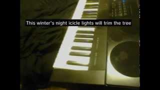 On this winter's night (lyrics) Lady Antebellum piano