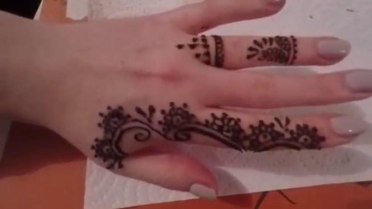 Finger Mehndi Art : Henna with me fingers mehendi design youtube