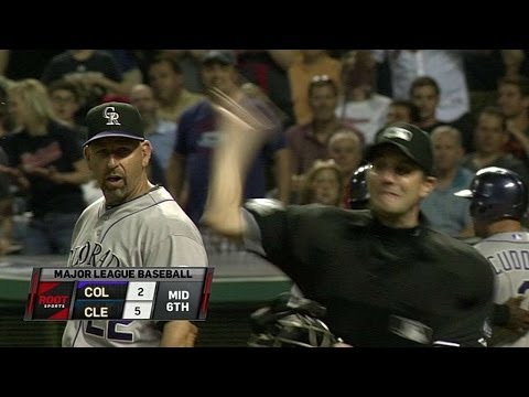 COL@CLE: Weiss argues strikes and gets tossed in 6th