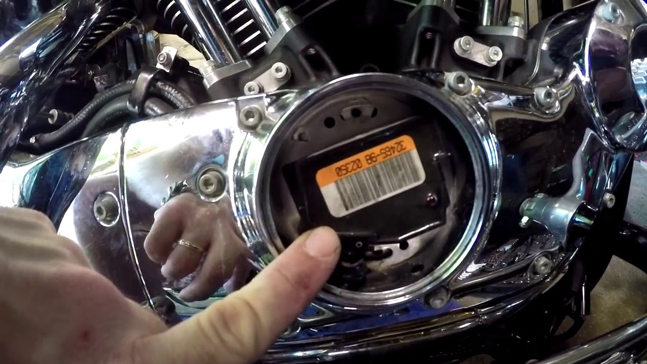 2003 Harley Sportster Ignition module Replacement YouTube