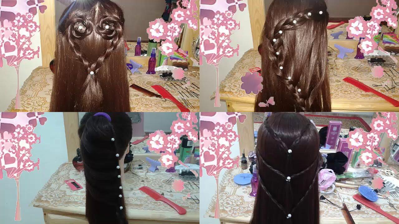 Peinados faciles y bonitos para la escuela y fiestas youtube - Peinados fiesta faciles ...