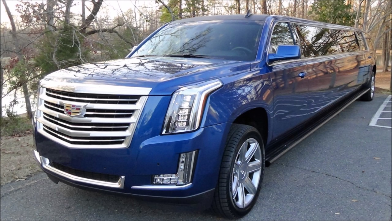 Brand New Blue Stretch Cadillac Escalade - YouTube
