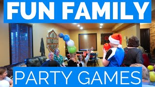 FAMILY PARTY IDEAS | CHRISTMAS PARTY GAMES | MINUTE TO WIN IT INSPIRED GAMES