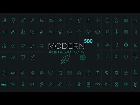 Download Modern Animated Icons Library V2 - video preset package with tutorial - VideoHive Templates