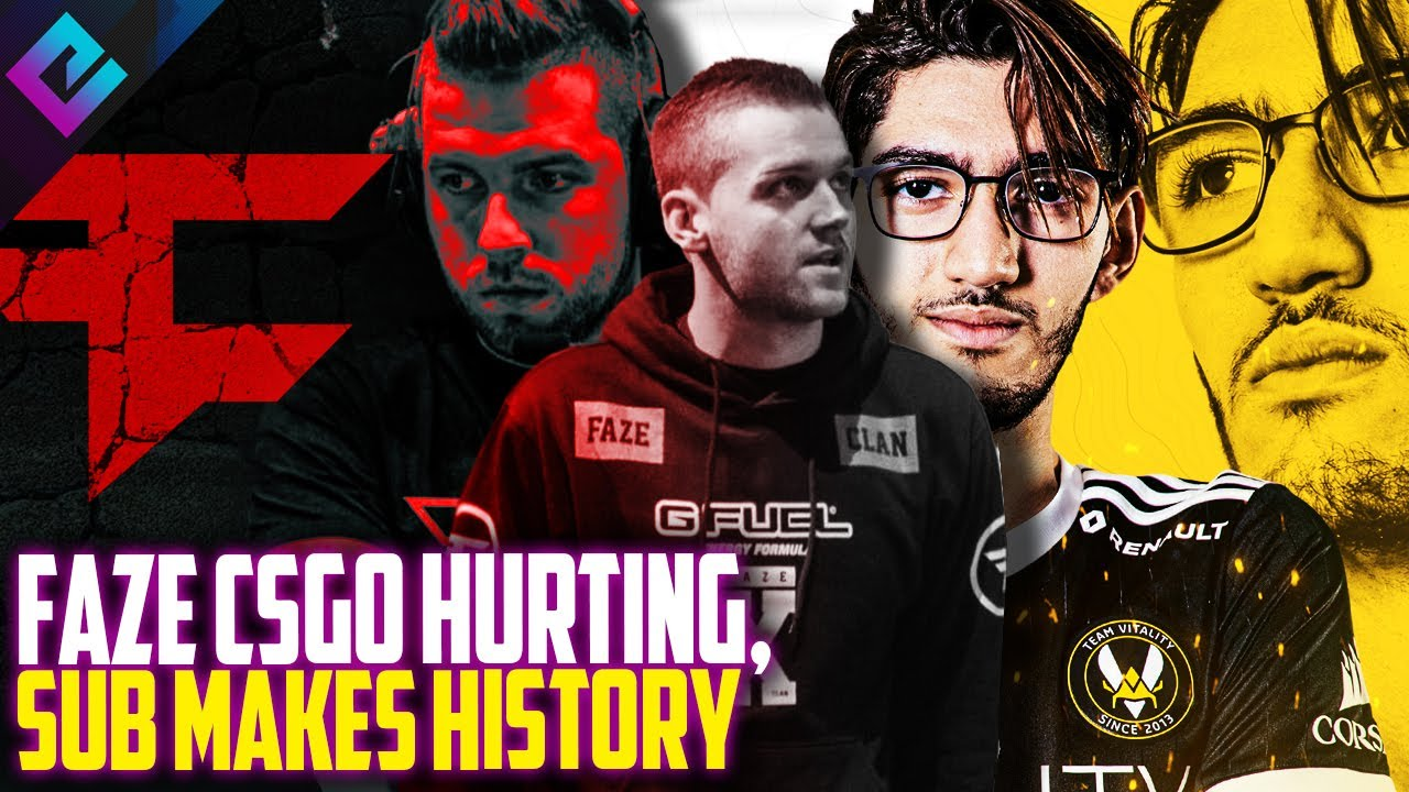 FaZe CSGO Hurting but First EVER Sub Mid Match in History