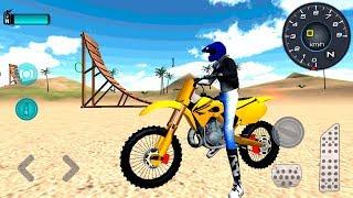Motocross Beach Jumping 3D - Gameplay Android & iOS game - motorbike simulator game