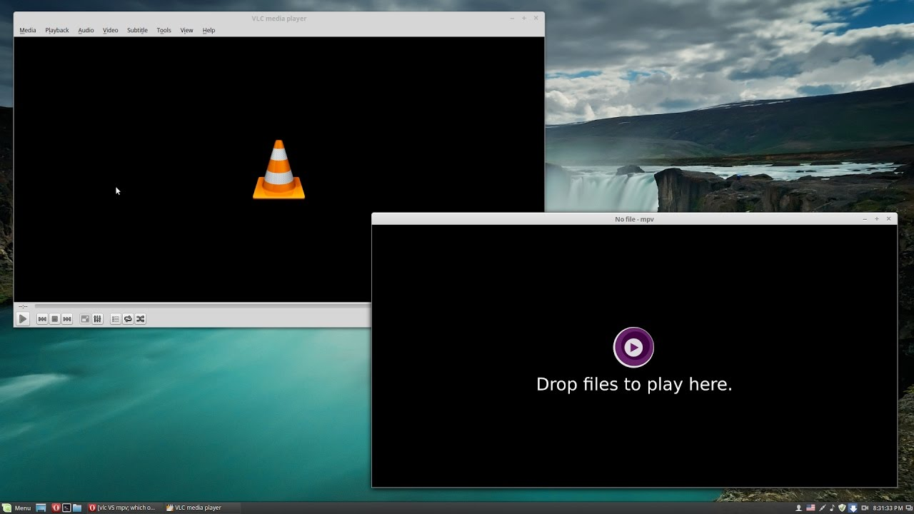 VLC vs MPV media players on a 2007 workstation