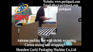 antenna box hot shrink wrapping machine,sealing & shrink wrapping machine-www.gurkipack.com