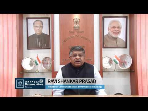 Indian Minister of Communications & Information Technology Ravi Shankar Prasad