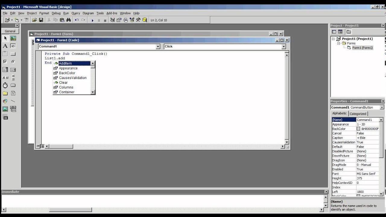 Visual Basic 6 0 - ListBox Add Item