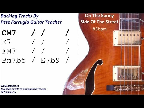 On The Sunny Side Of The Street Backing Track
