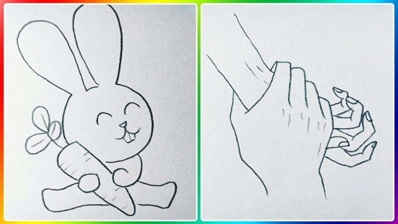 Vẽ Tranh Bút Chì | Hướng Dẫn Vẽ Hình Cute Đơn Giản | Art Drawing