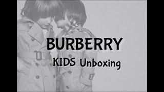 Burberry kids unboxing/ 버버리 코트…