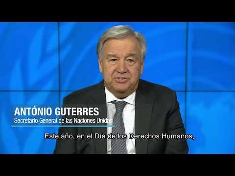 Mensaje del Secretario General António Guterres con motivo del Día de los Derechos Humanos