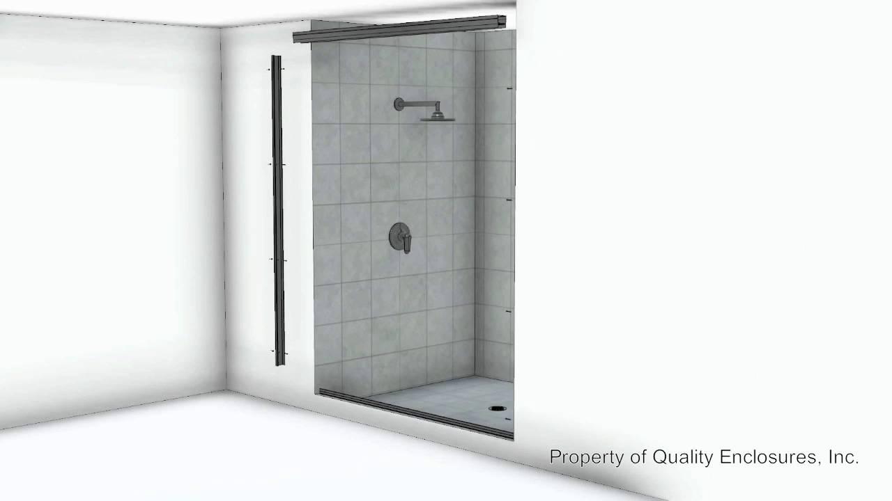 Framed Bypass Shower Enclosure Youtube